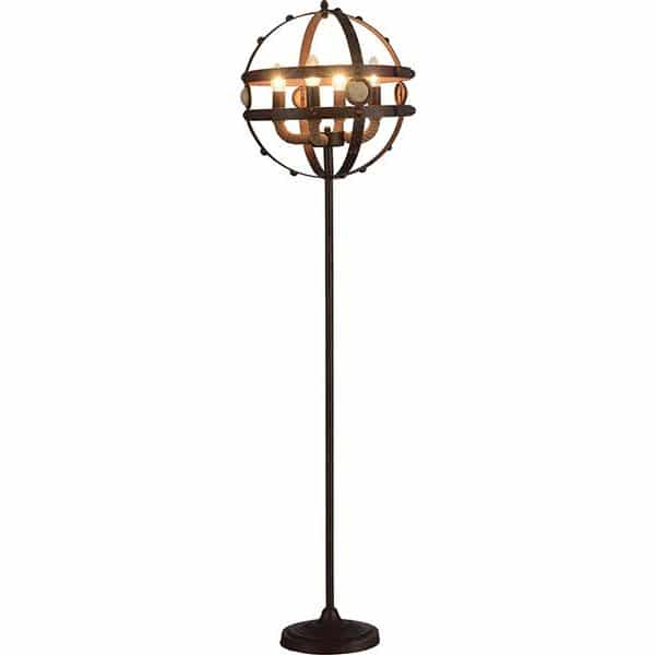 Benie Antique Coffee Floor Lamp