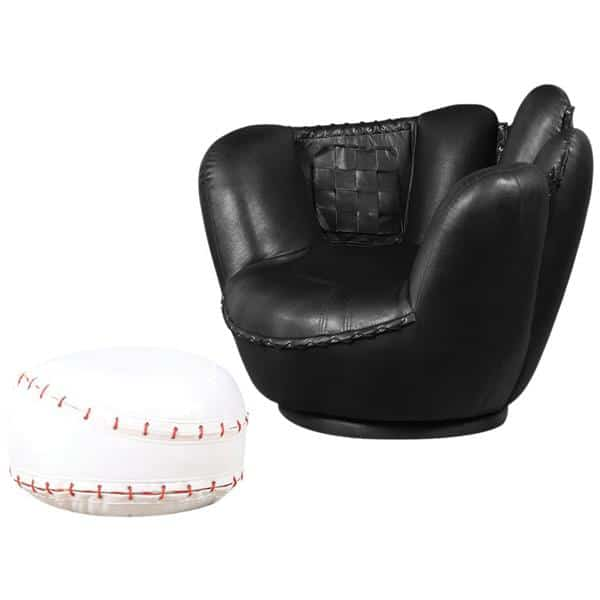 All Star Baseball Two-Piece Chair and Ottoman Set