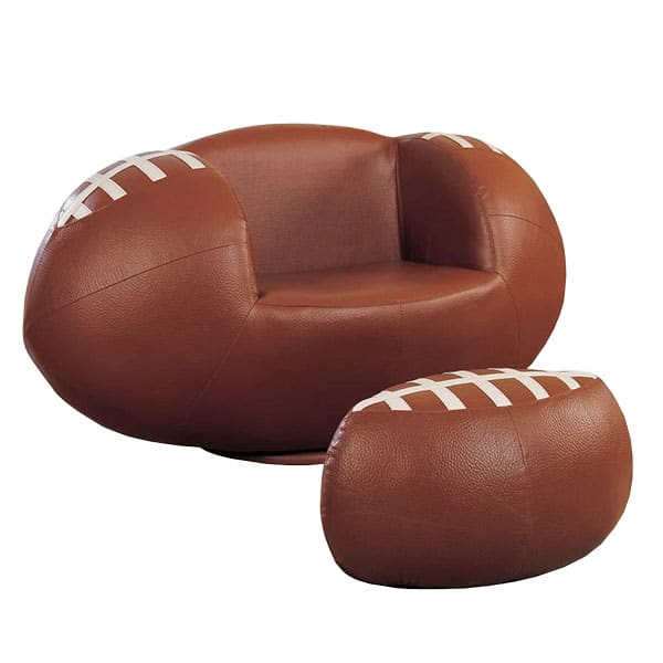 All Star Football Two-Piece Chair and Ottoman Set