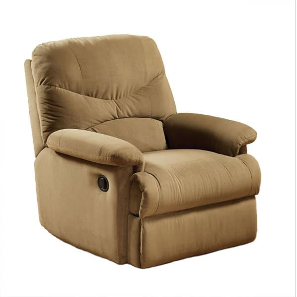 Arcadia Light Brown Glider Recliner