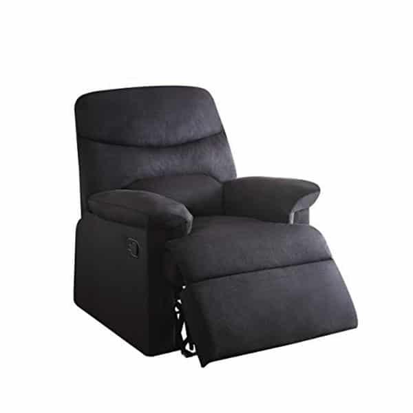 Acme Furniture Arcadia Black Fabric Recliner Acm1343