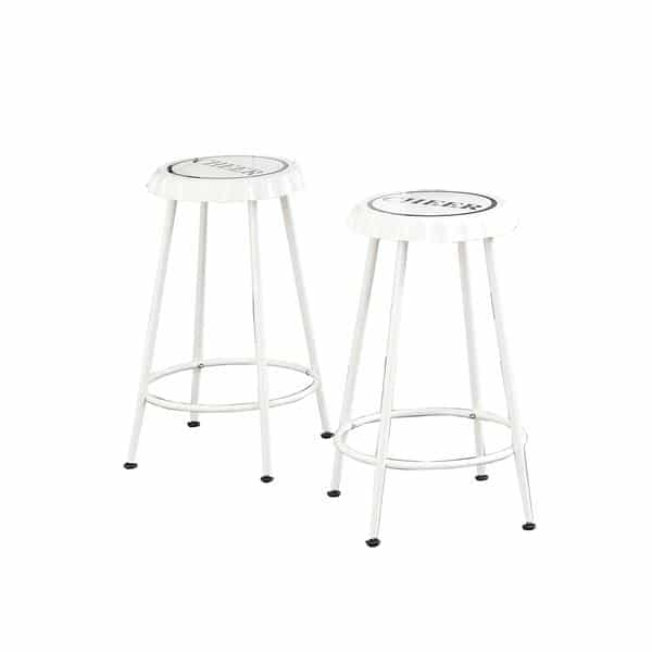Terrific Mant Two Piece White Counter Height Stool Set Cjindustries Chair Design For Home Cjindustriesco