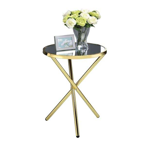 Lajita Gold and Mirror Side Table