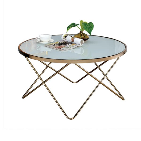 Valora Champagne and Frosted Glass Coffee Table