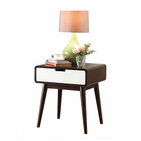 Christa End Table with USB Power Dock
