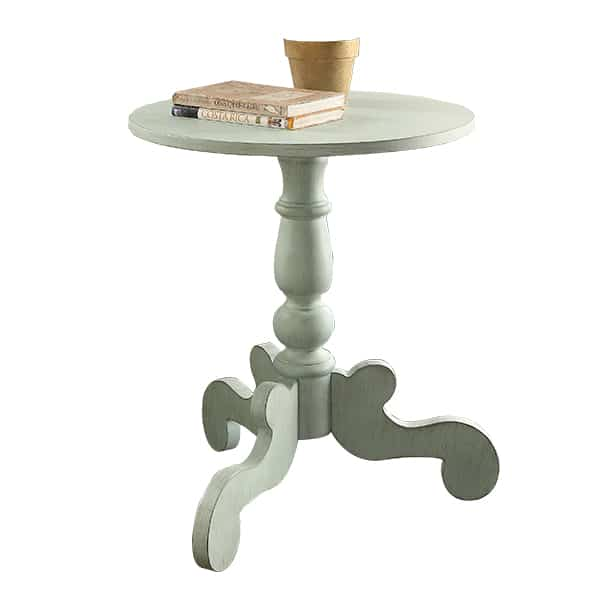Freida Antique Green End Table