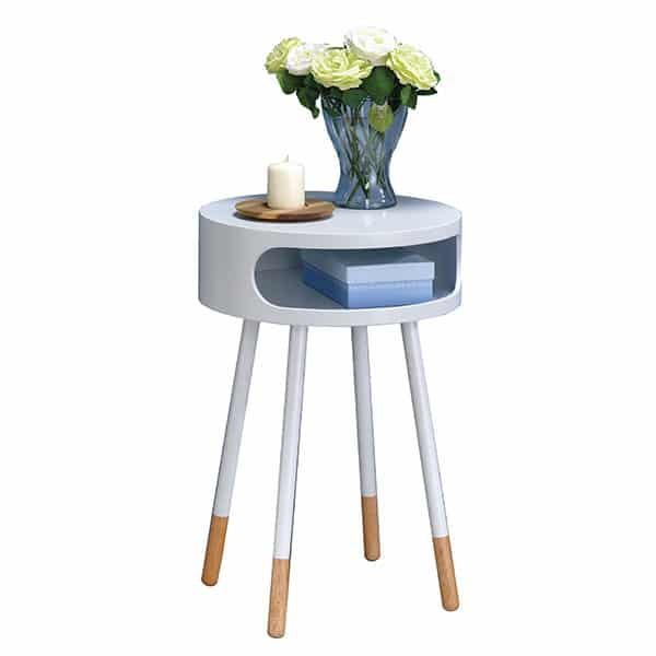 Sonria White End Table