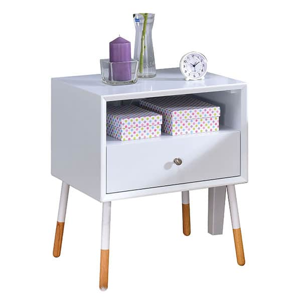 Sonria II White End Table
