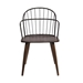 Bradley Steel Framed Side Chair in Black Powder Coated Finish and Walnut Glazed Wood - ARL1156