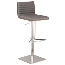 Cafe contemporary adjustable Bar Stool - Gray