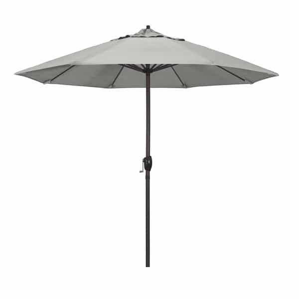 9 Casa Series Patio Umbrella  Sunbrella   Granite Fabric