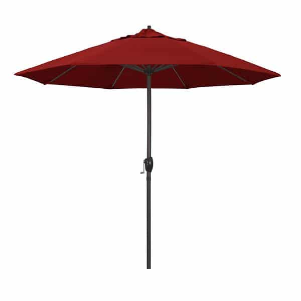 9 Casa Series Patio Umbrella  Sunbrella   Jockey Red Fabric