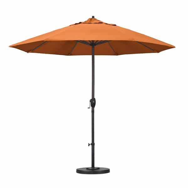 9 Casa Series Patio Umbrella  Sunbrella   Tangerine Fabric
