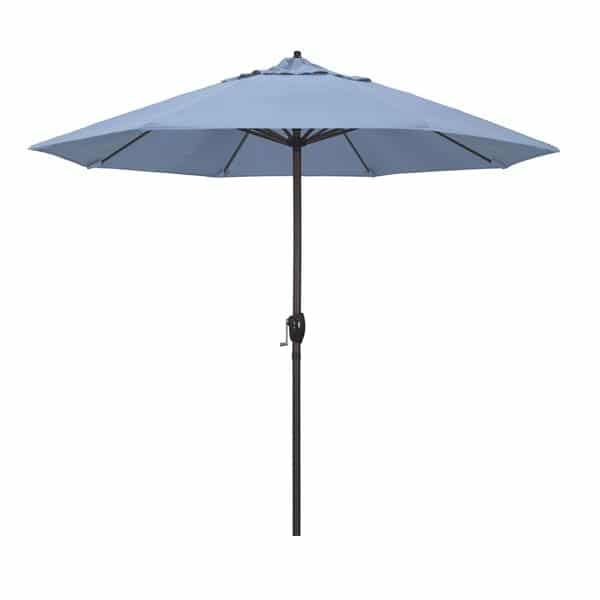 9 Casa Series Patio Umbrella  Sunbrella   Air Blue Fabric