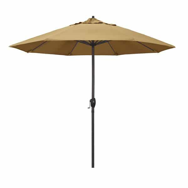 9 Casa Series Patio Umbrella  Sunbrella   Wheat Fabric