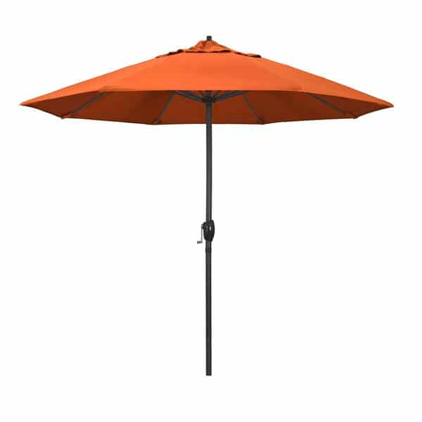 9 Casa Series Patio Umbrella  Sunbrella   Melon Fabric
