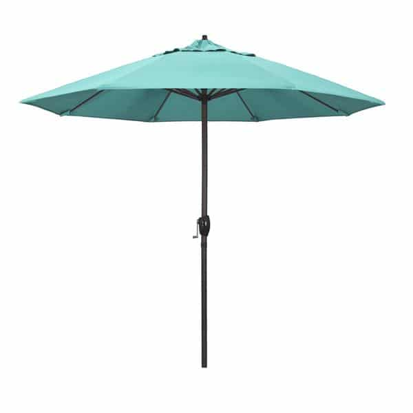 9 Casa Series Patio Umbrella  Sunbrella   Aruba Fabric
