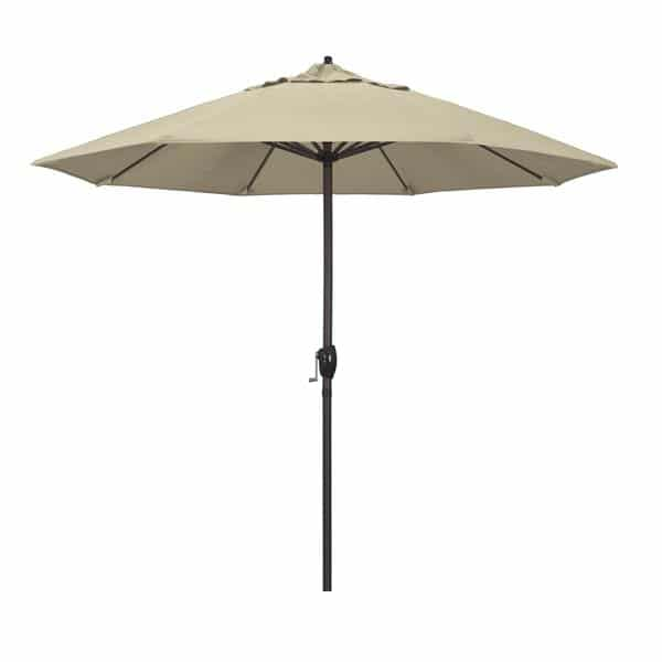 9 Casa Series Patio Umbrella  Sunbrella   Beige Fabric