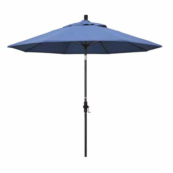 9 Sun Master Series Patio Umbrella With Olefin Frost Blue Fabric