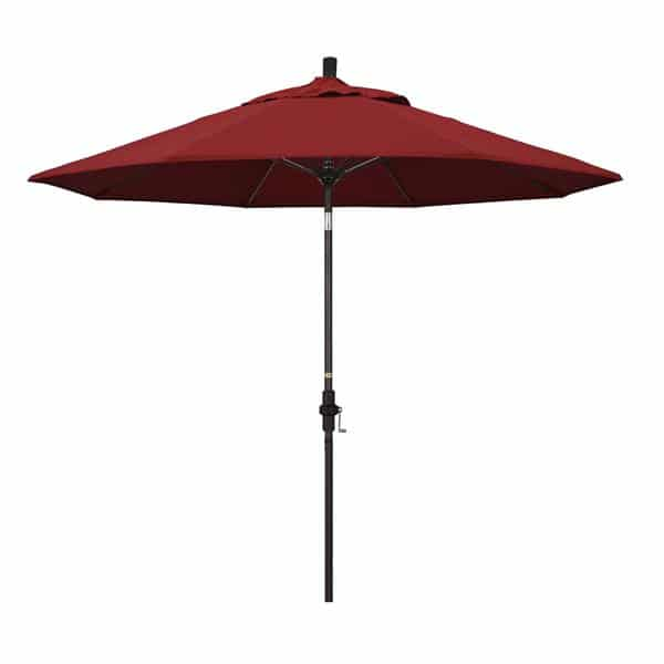 9 Sun Master Series Patio Umbrella With Pacifica Red Fabric