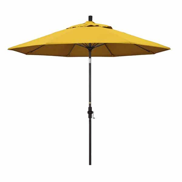 9 Sun Master Series Patio Umbrella With Pacifica Yellow Fabric