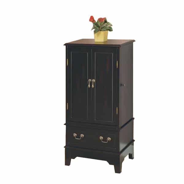 Black Transitional Jewelry Armoire