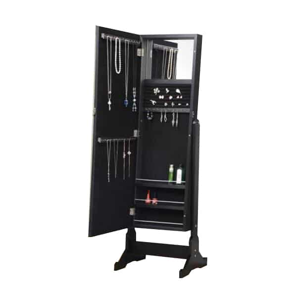 Casual Black Jewelry Armoire