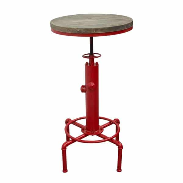 Brooklyn Adjustable Height Bistro Table with Red Hydrant Base