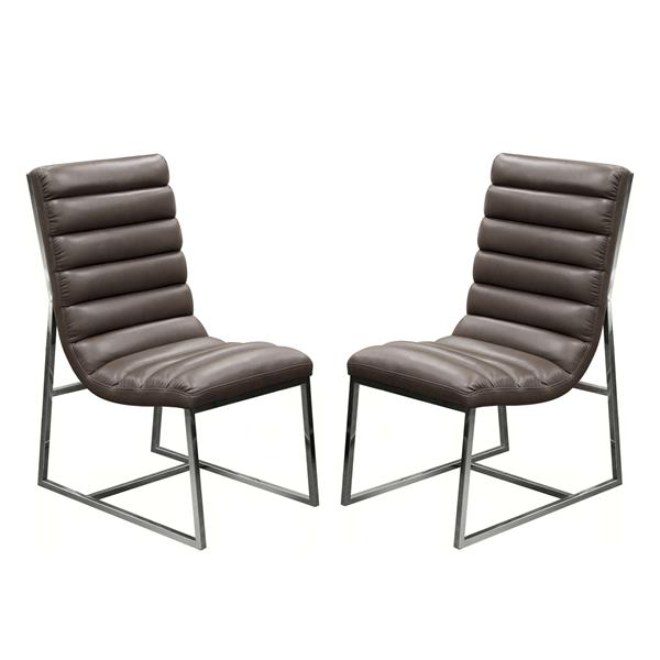 Bardot Set of Two Elephant Dining Chair with Stainless Steel Frame