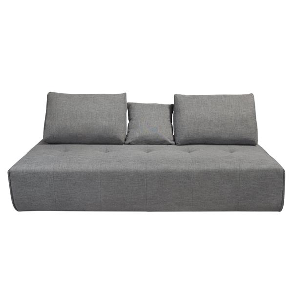 Cloud Lounge Seating Platform with Moveable Backrest Supports in Space Grey Fabric