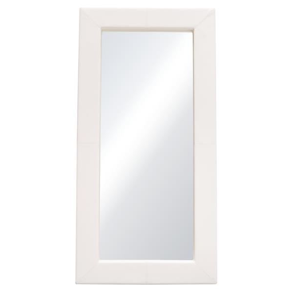 Luxe Free-Standing Mirror with Locking Easel Mechanism in White