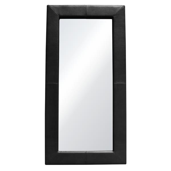 Luxe Free-Standing Mirror with Locking Easel Mechanism in Black