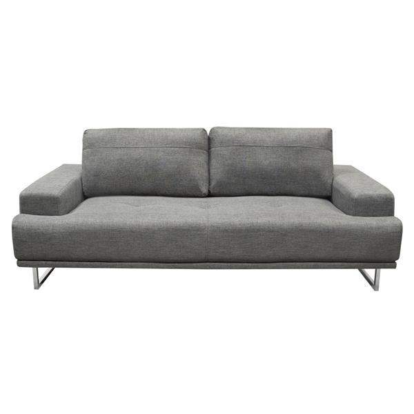 Russo Sofa with Adjustable Seat Backs in Space Grey Fabric