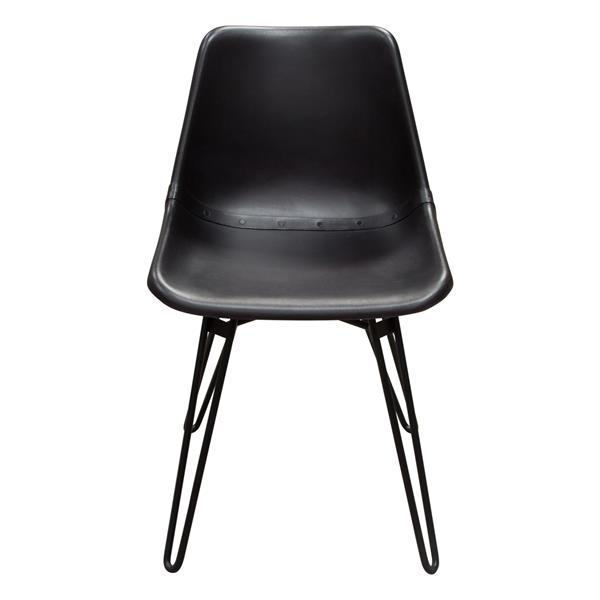 Camden Dining Chair in Genuine Black Leather