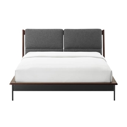 Park Avenue Eastern King Platform Bed with Fabric - Ruby