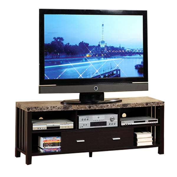 Pique TV Stand with Faux Marble Top