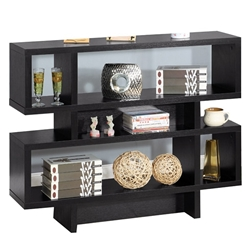 Black Two-Tier Display Cabinet