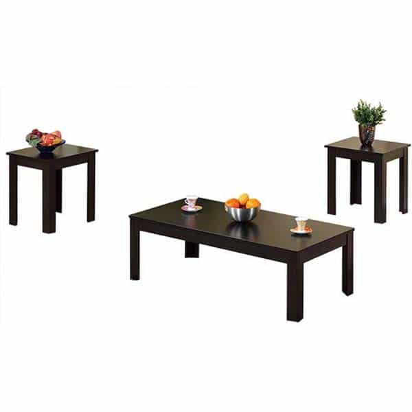 Robust Three-Piece Coffee Table and End Tables