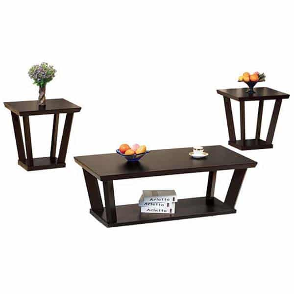 Pillar Three-Piece Coffee Table and End Tables