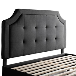 Malouf Carlisle Headboard Queen Charcoal