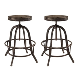 Collect Bar Stool Set of 2 - Brown