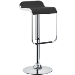 LEM Vinyl Bar Stool - Black