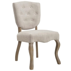 Array Vintage French Upholstered Dining Side Chair - Beige