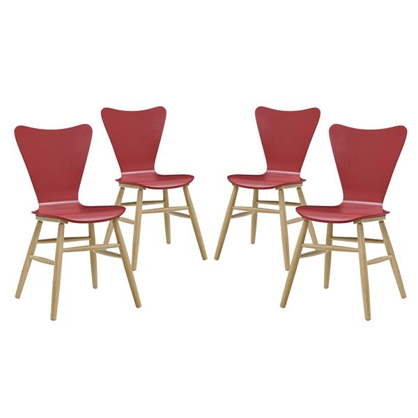 Cascade Dining Chair Set of 4 - Red