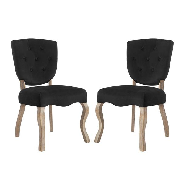 Array Dining Side Chair Set of 2 - Black