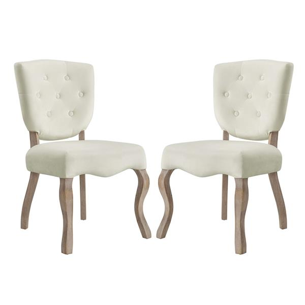 Array Dining Side Chair Set of 2 - Ivory