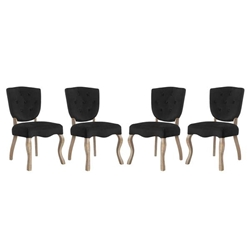 Array Dining Side Chair Set of 4 - Black