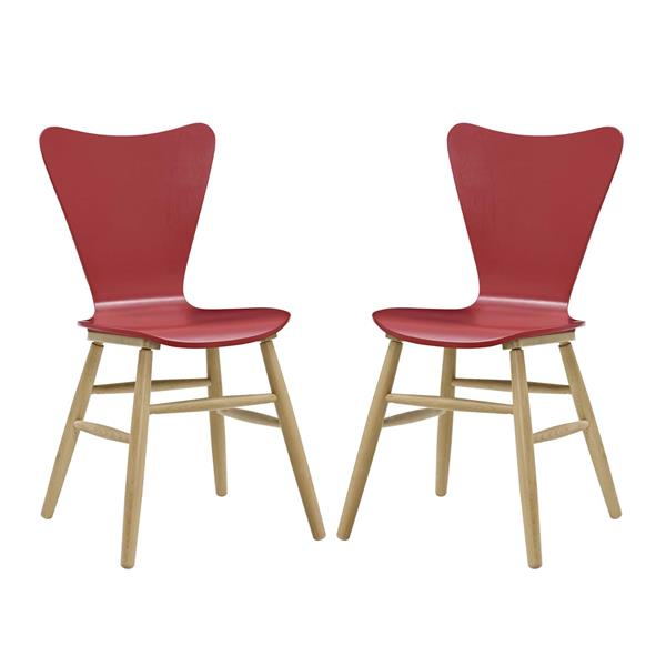 Cascade Dining Chair Set of 2 - Red
