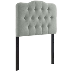 Annabel Twin Upholstered Fabric Headboard - Gray