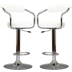 Diner Bar Stool Set of 2 - White